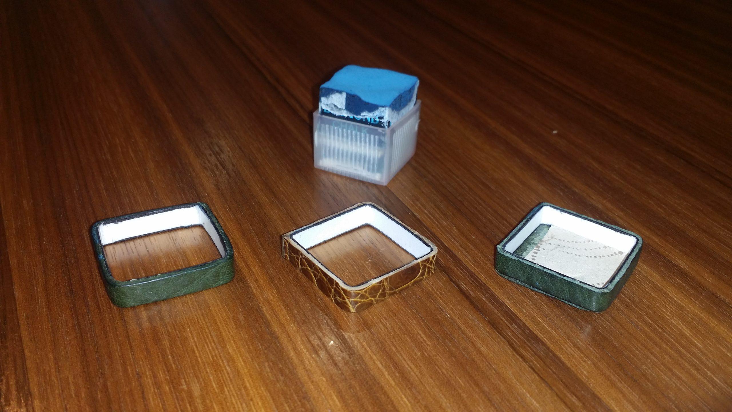 ビリヤードチョークケース 自作例 着せ替え機能構造
