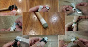 ビリヤードキュー樹脂タップの交換方法