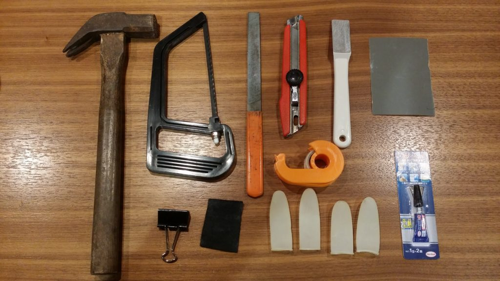 樹脂タップ交換に使う道具