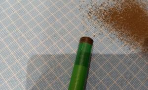 エボナイトのアールの粗削り完了