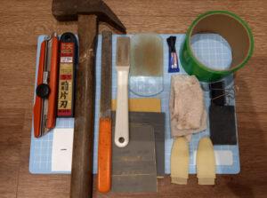 エボナイトタップ交換に使う道具